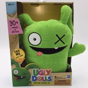 UGLY DOLLS Feature Sounds Ox Talking Toy Green